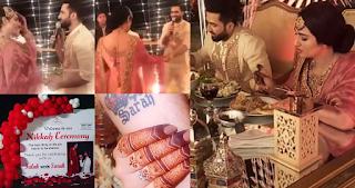 Sarah Khan and Falak Shabir Wedding Photos and Videos