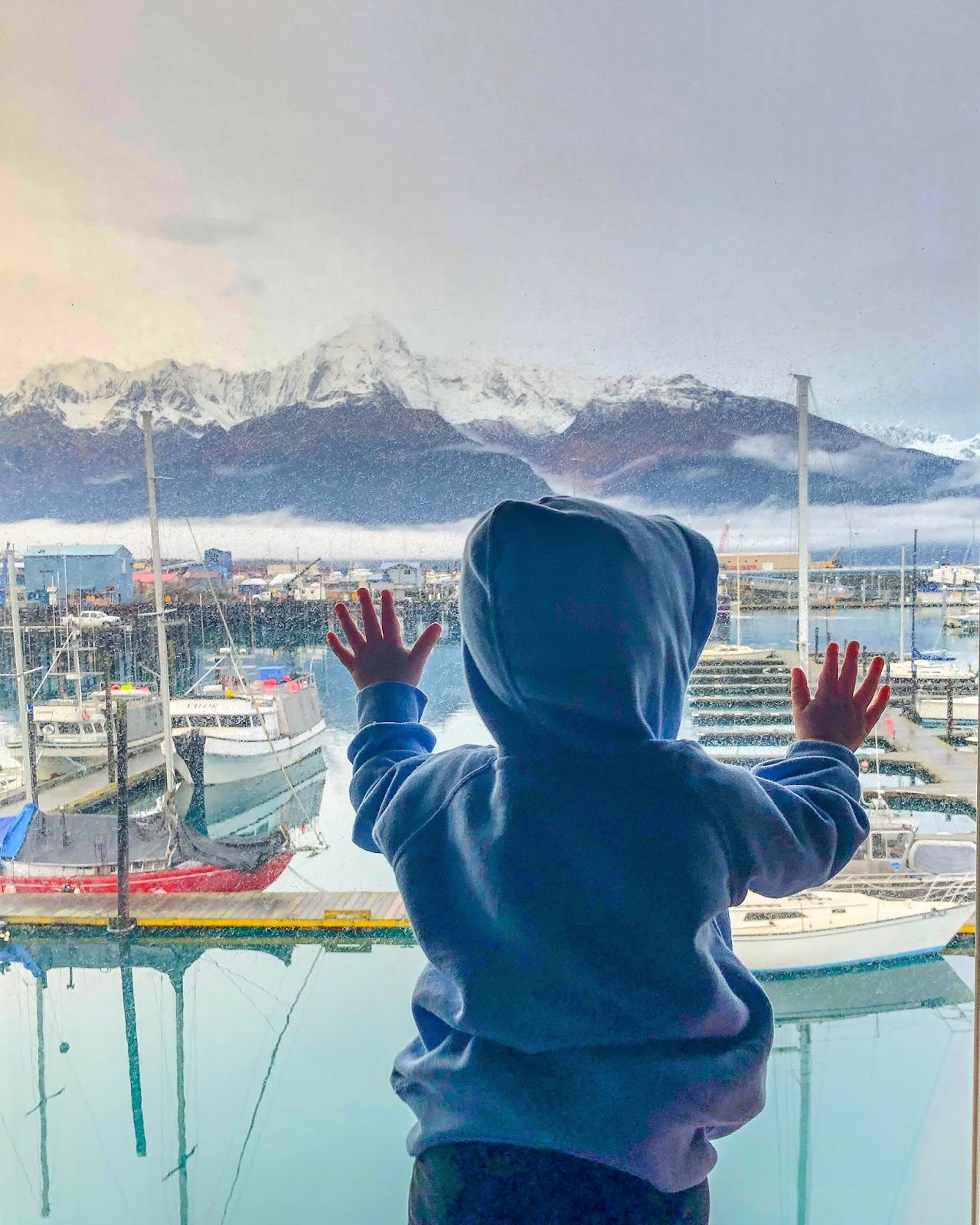 view from harborview room at Harbor360 Hotel Seward Alaska