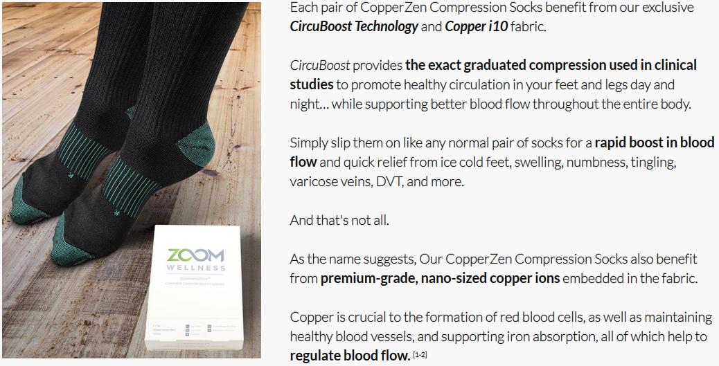 Copper Zen Socks - Blood Circulation