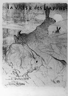 La Valse des Lapins by Henri de Toulouse-Lautrec