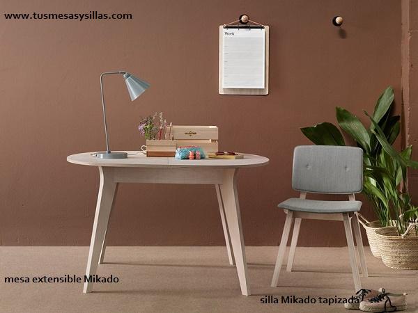 Mesa redonda extensible mikado de estilo nordico mesas for Mesa redonda extensible barata