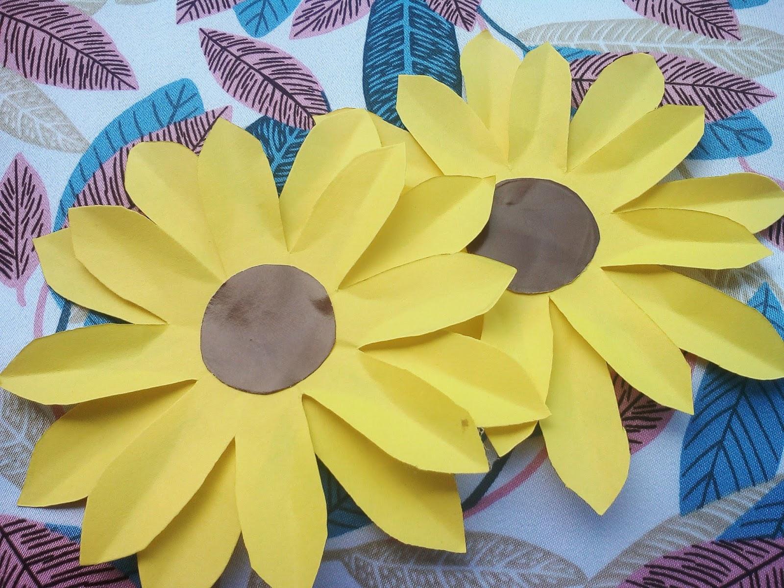 Daily Of Nurul Fadillah Tutorial Buat Bunga Matahari Dari Kertas