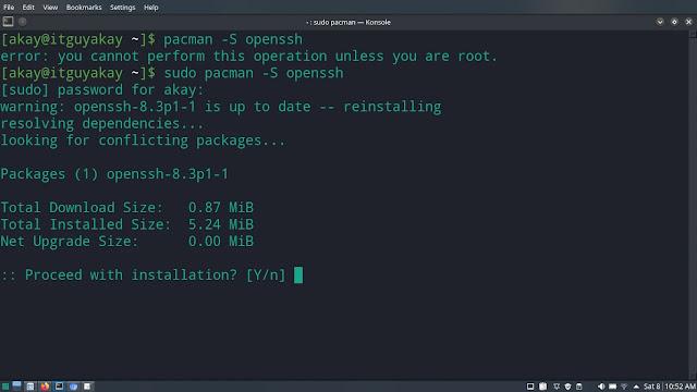 list of pacman commands