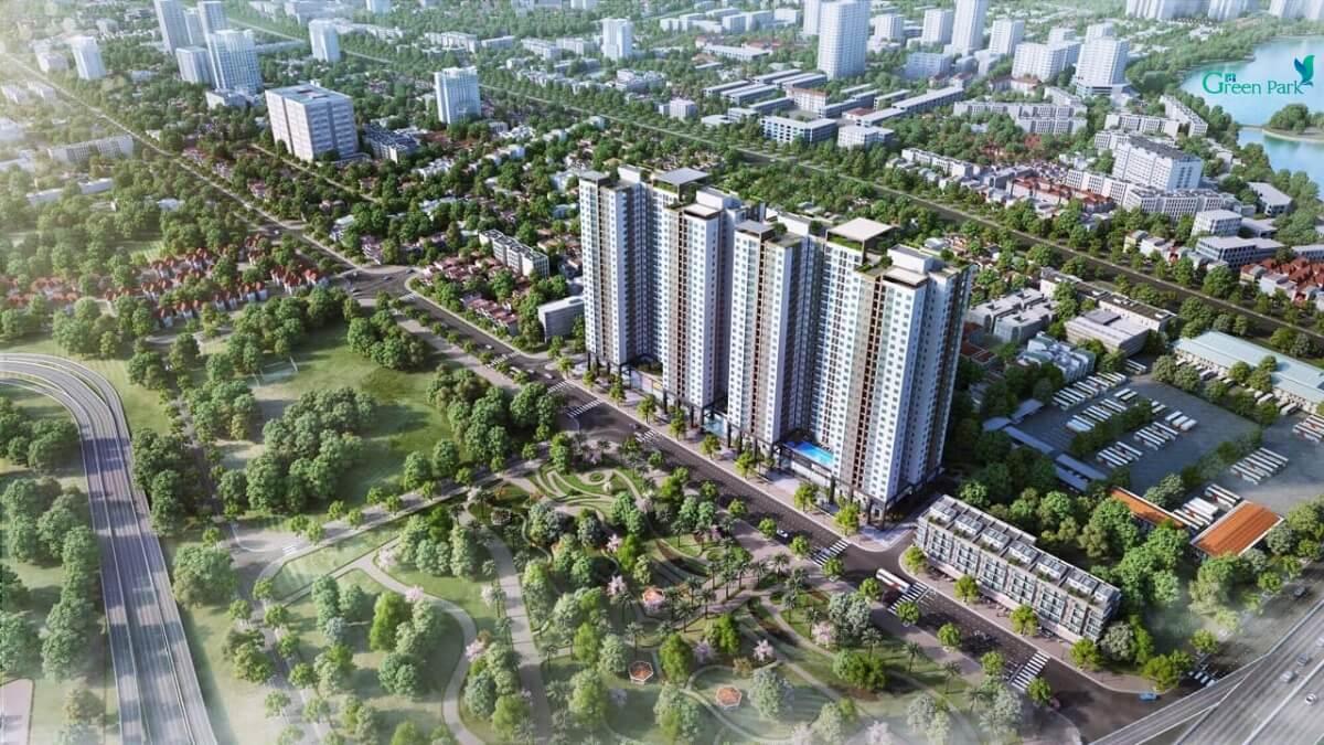 Thiết kế toà căn hộ Phương Đông Green Park