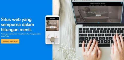 website gratis menggunakan website builder