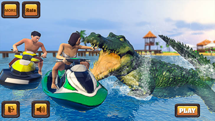 Angry Crocodile Family Simulator: Crocodile Attack 1.0 Unlimited Coins