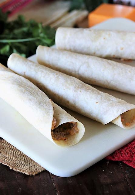 Cheesy Taco Tortilla Rolls Image