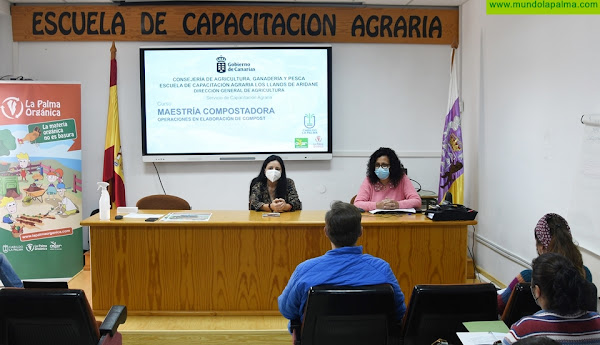 Una veintena de personas se forman como maestros compostadores en La Palma