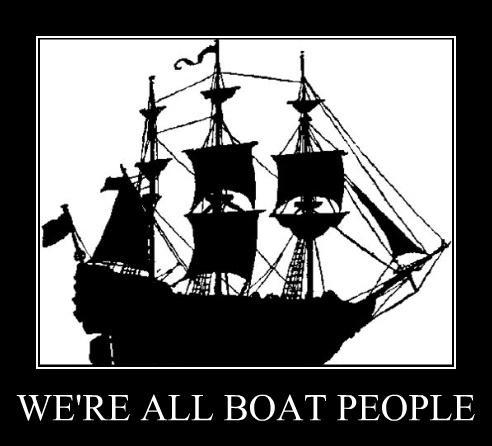 Bloody boat people