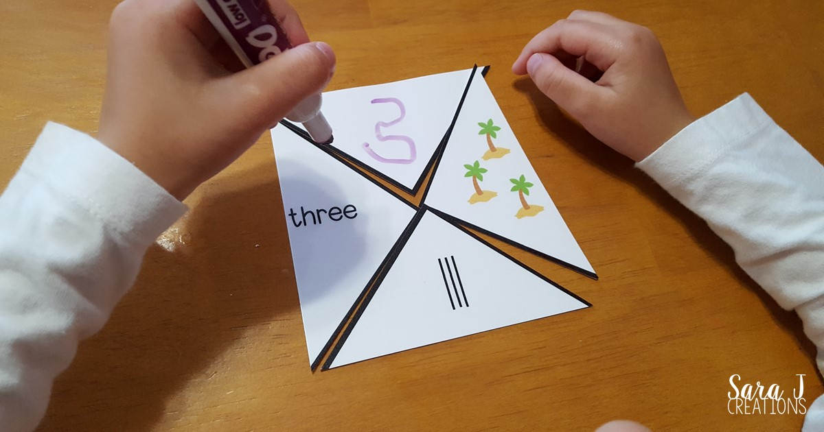 Free printable pirate counting puzzles make the perfect math center for number counting fun!
