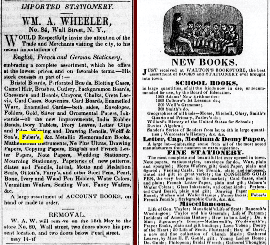Faber-Castell advertising 1847