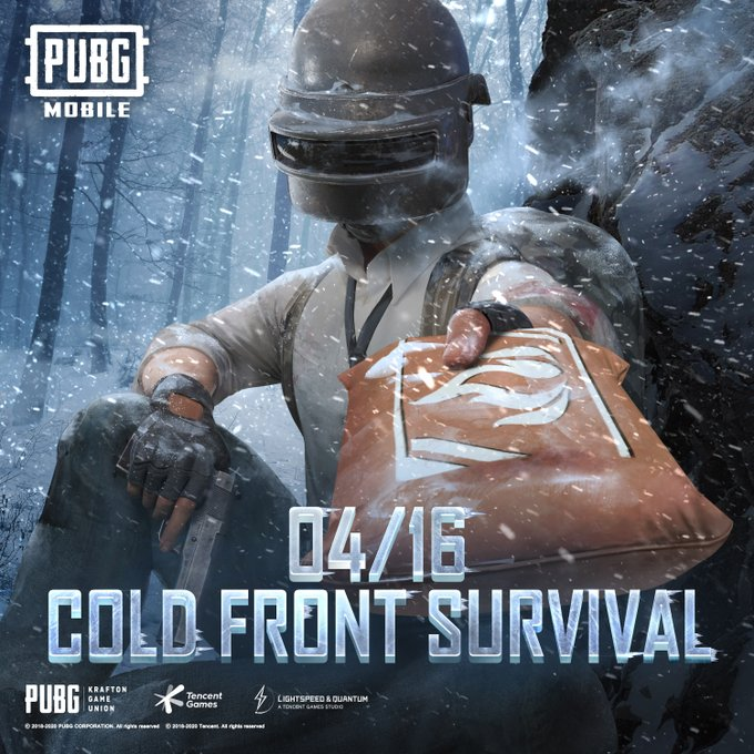 Pubg mobile new update 'cold front survival' will launch in April 16