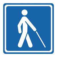 Símbolo de Acessibilidade - Deficiência Visual