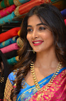 Puja Hegde looks stunning in Red saree at launch of Anutex shopping mall ~ Celebrities Galleries 050.JPG
