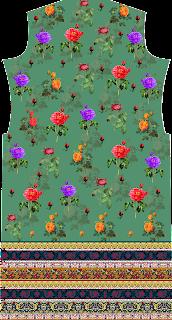 Floral Print Suit Kurtis Textile Design