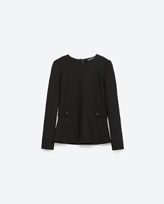 Zara Epaulette Top
