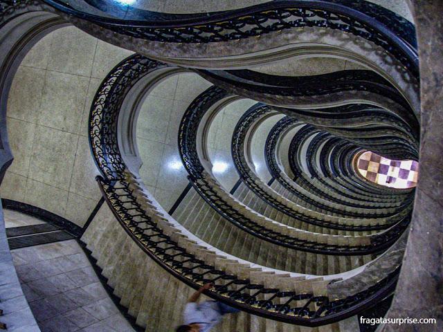 Escadaria do Ministério da Fazenda, no Centro do Rio de Janeiro