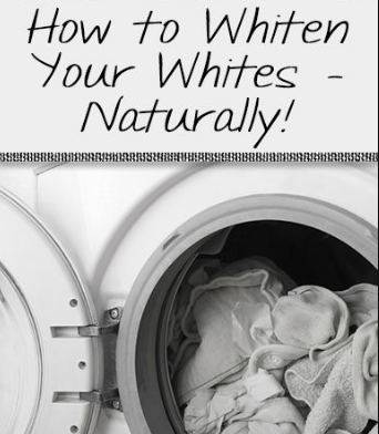 Here Is A Solution To  Whiten Your Laundry Naturally At Home.