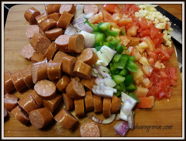 Cajun Pasta Ingredients
