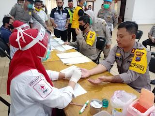 Jelang HUT Bhayangkara ke 74, Polres Labuhanbatu Donor Darah