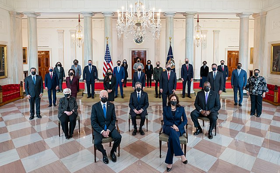 Cabinet of Illegitimate President Joe Biden in April 2021