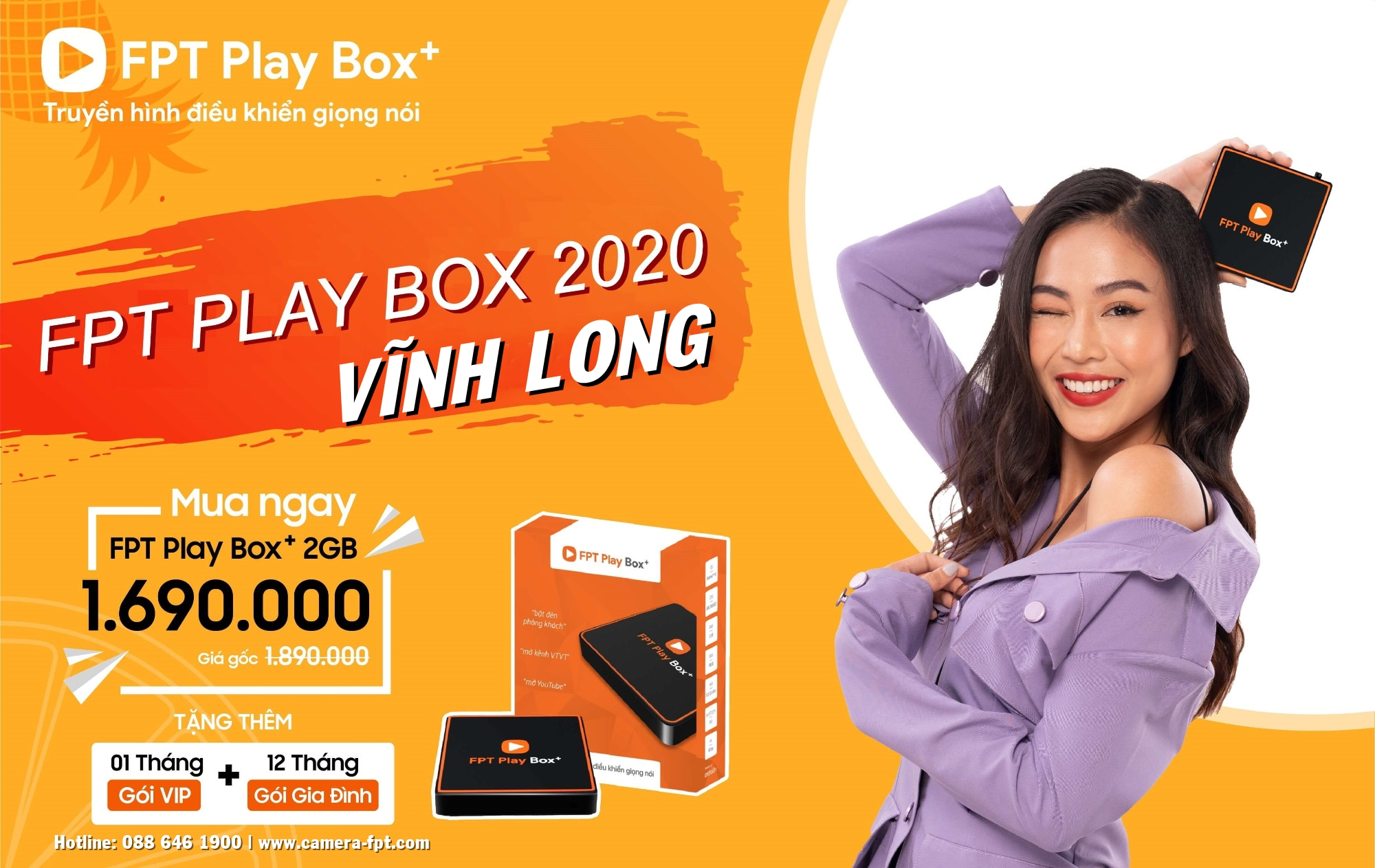 Mua FPT Play BOX+ tại Vĩnh Long ✓ Miễn phí lắp đặt ✓ Tặng 12 tháng truyền hình cáp