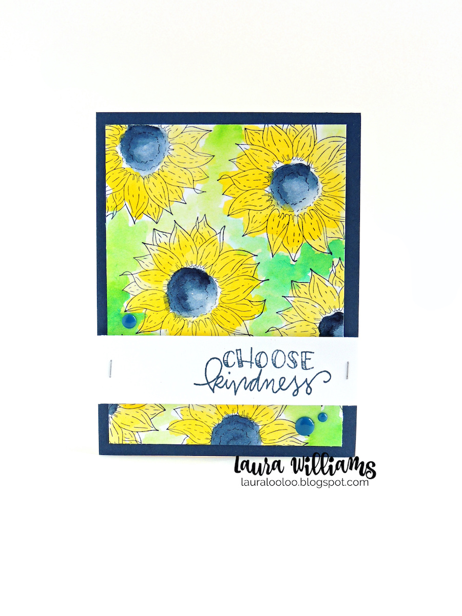 Choose kindness sunflower card with stamps from Impression Obsession