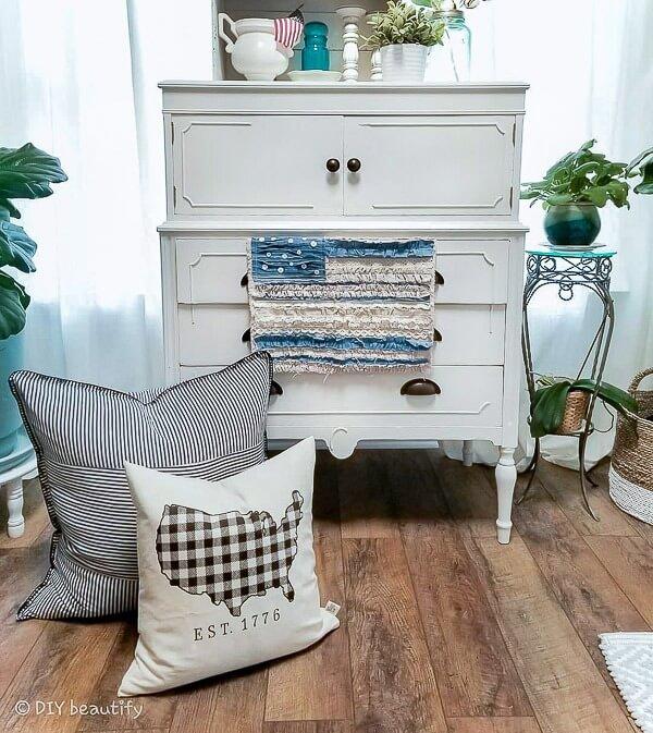 white dresser DIY Americana