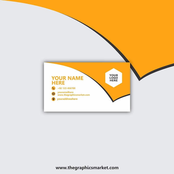 One Sided Business Card Template | Free Download