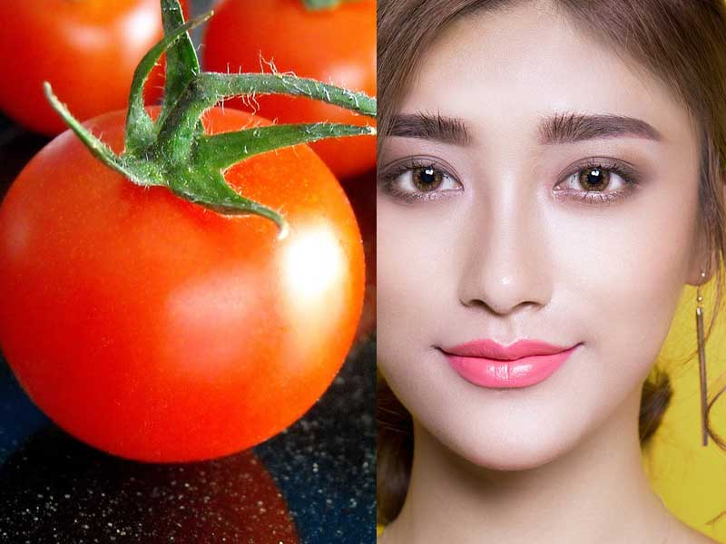 tomato face pack in hindi