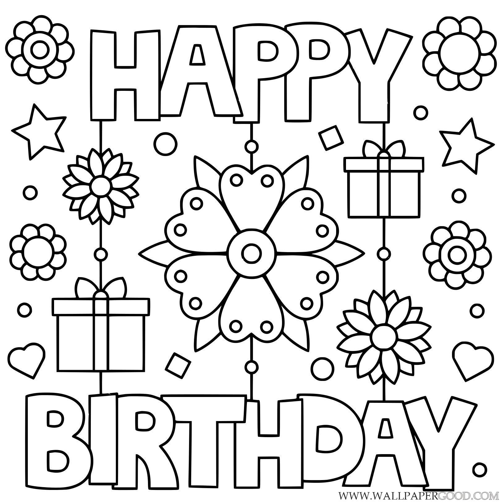 Happy Birthday Daddy Coloring Pages Free Printable