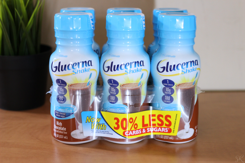 Glucerna six pack on a counter