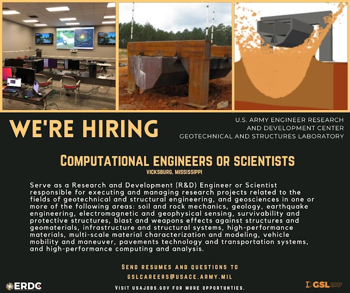 U.S. Army Engineer Research and Development Center is hiring