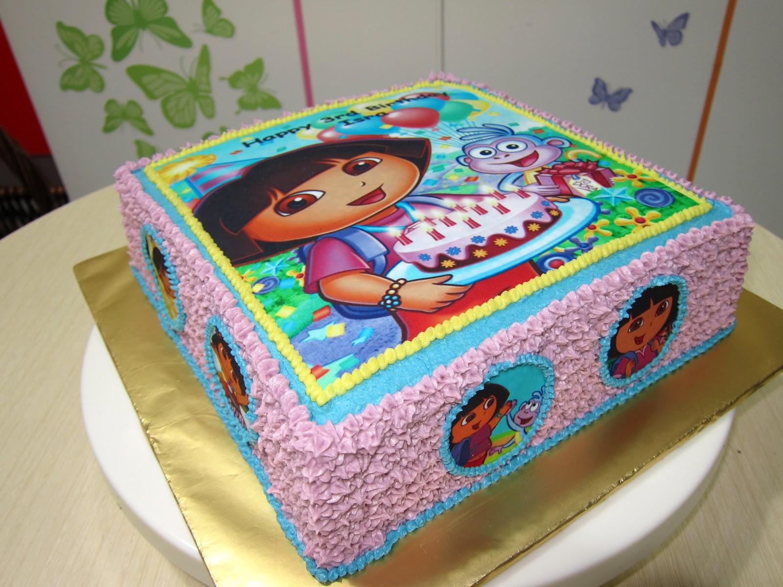 Dora The Explorer Birthday Celebration Cake