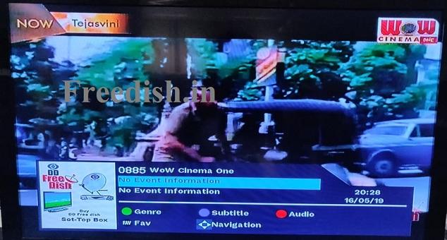 Wow Cinema One Channel left DD Free dish