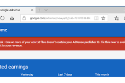 """How to solve """"Earnings at risk – One or more of your ads.txt files doesn't contain your AdSense publisher ID"""" warning?   Tech Mltan"""
