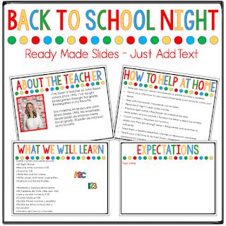 virtual o in person back to school night presentation slides