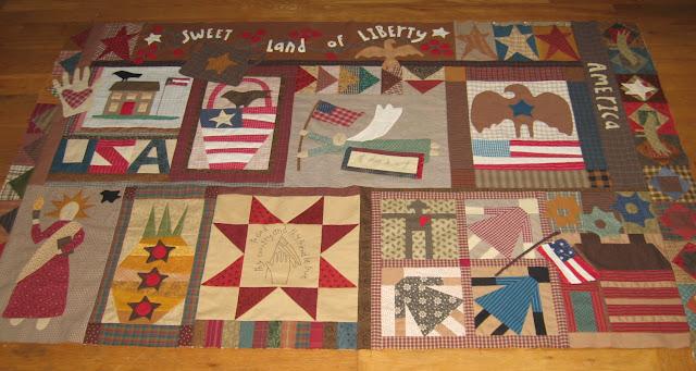 Sweet Land of Liberty blocks
