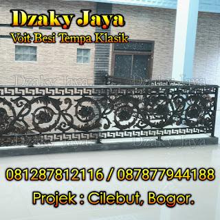 Contoh void tempa klasik proyek rumah mewah klasik di Cilebut, Bogor.