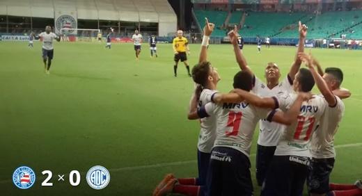 Bahia derrota Confiança
