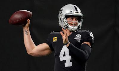 Las Vegas Raiders quarterback Derek Carr