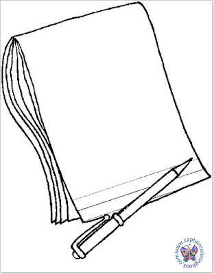 Notepad coloring page download