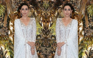 Karisma Kapoor At Armaan Jain And Anissa Malhotra Wedding Reception In Mumbai Photos