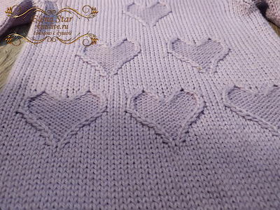 Описание свитера «Сердечко», рост 98 см