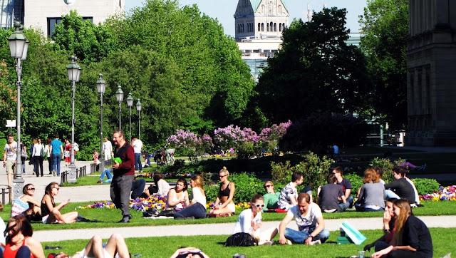 Parque em Frankfurt