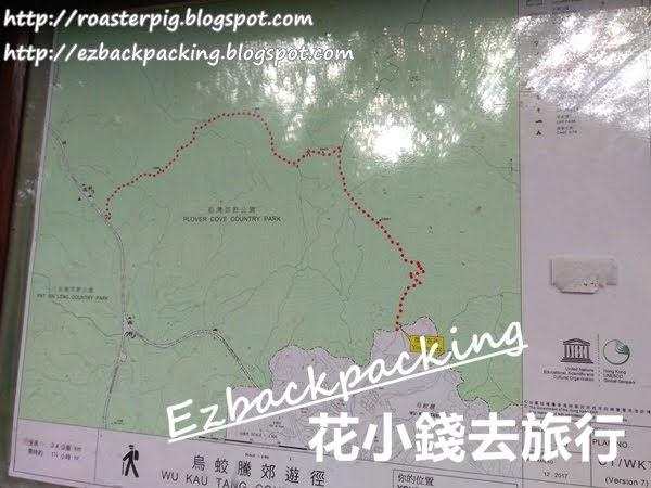 烏蛟騰郊遊徑地圖