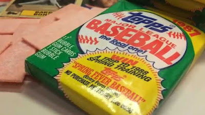 "Buying packs of baseball cards was always so much fun! And that ""hard as rock"" gum that came with it was the best... LoL"