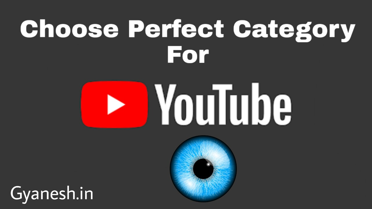 Choose Perfect Category For Youtube