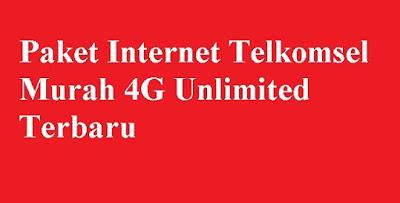 memang banyak dicari oleh pengguna internet kususnya pengguna smartphone Paket Internet Telkomsel Murah 4G Unlimited Terbaru